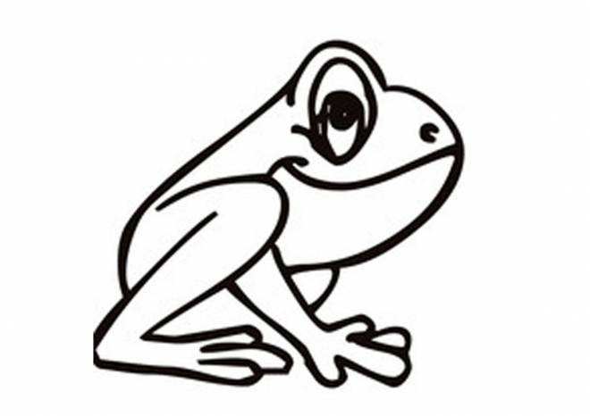 Free coloring and drawings Little frog Coloring page