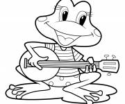 Coloring pages Frog
