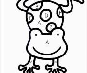 Coloring pages Numbered frog