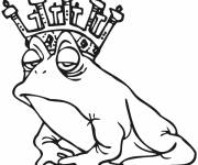 Coloring pages Royal frog