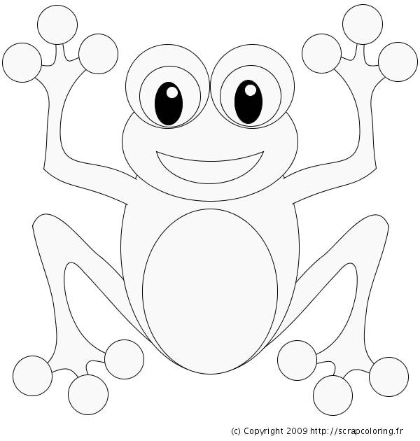 Free coloring and drawings Simple frog Coloring page