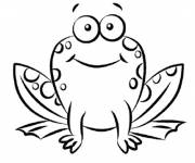 Free coloring and drawings Sitting frog Coloring page