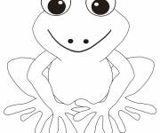 Free coloring and drawings Smiling frog Coloring page
