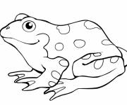 Coloring pages Spotted green frog