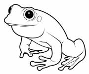 Coloring pages Vector frog