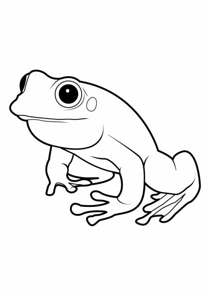 Free coloring and drawings Vector frog Coloring page