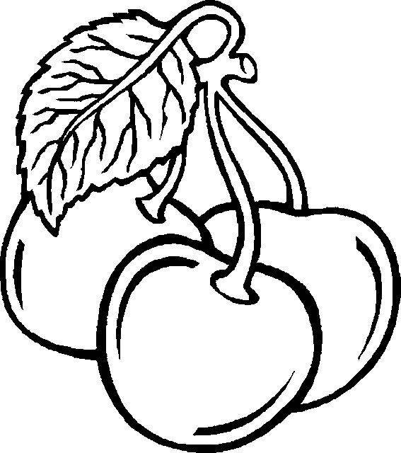 Free coloring and drawings A stylized Fruit Coloring page