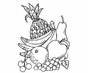 Coloring pages Cutting fruit