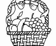 Coloring pages Decorated Fruit Basket