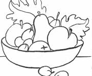 Coloring pages Delicious fruit