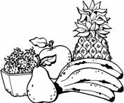Coloring pages Easy fruit