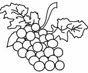 Coloring pages Fruit Bunches of Grapes