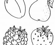 Coloring pages Fruit for children
