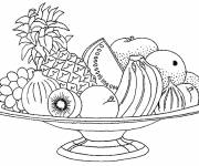 Coloring pages Fruit for dessert