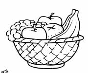 Coloring pages Fruit in the kitchen