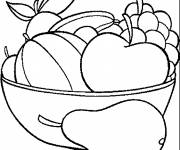 Coloring pages Fruits arranged