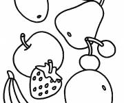 Coloring pages Fruits easy to color
