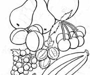 Coloring pages Fruits in color
