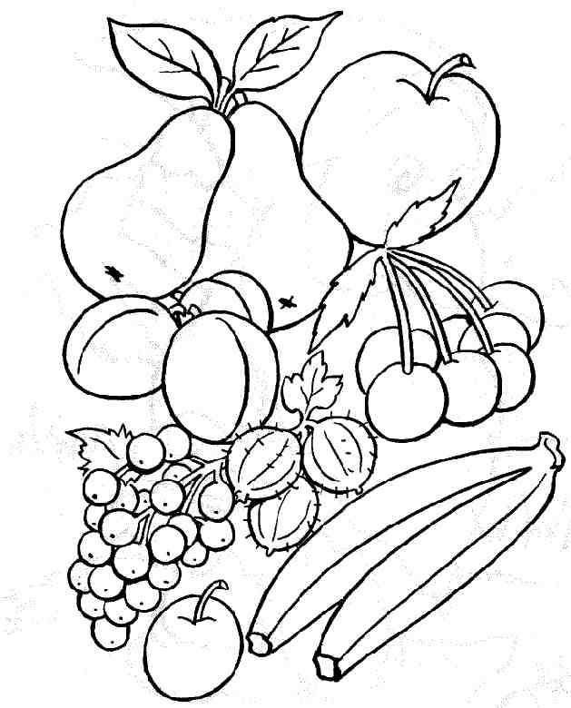 Free coloring and drawings Fruits in color Coloring page