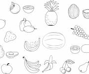 Coloring pages Fruits to color