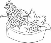 Coloring pages Fruits to download