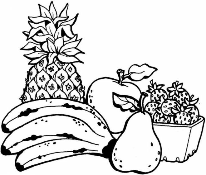 Free coloring and drawings Maternal fruit Coloring page