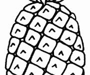 Coloring pages Single pineapple