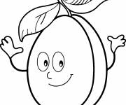 Free coloring and drawings Smiling apricot Coloring page