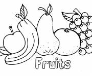 Coloring pages Stylized fruits