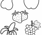 Coloring pages Vector fruit