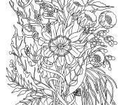 Coloring pages Adult Flowers