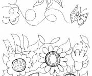Coloring pages Garden Flowers in Spring