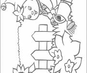 Coloring pages Garden Flowers Watering