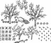 Coloring pages Garden Trees