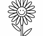 Coloring pages Smiling flower