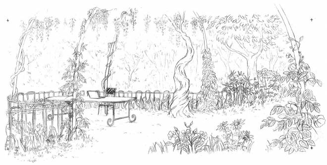 Free coloring and drawings Adult Beautiful Garden Coloring page