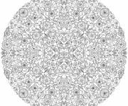 Coloring pages Adult Mandala Garden