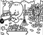 Coloring pages Easy maternal gardening