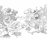 Free coloring and drawings Garden and Animals Coloring page