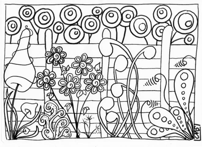 Free coloring and drawings Garden and Plants Coloring page
