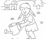 Free coloring and drawings Girl in the Companion Coloring page