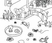 Coloring pages Japanese garden