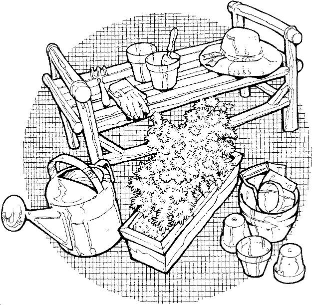 Free coloring and drawings Pencil farm Coloring page