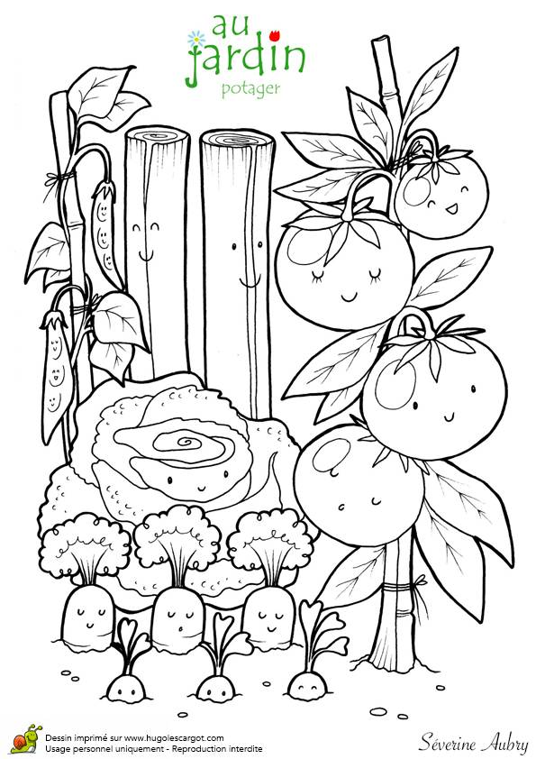 Free coloring and drawings Pencil garden Coloring page