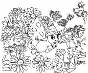 Coloring pages The Flowers of Simeon the Butterfly