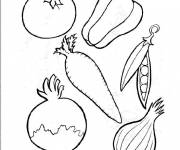Coloring pages Vegetables to cut
