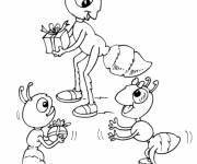 Coloring pages Ant's birthday