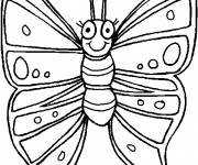 Coloring pages Butterfly while smiling