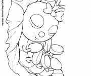 Coloring pages Insect while sleeping