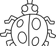 Coloring pages Ladybug insect to cut